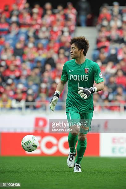 Shusaku Nishikawa of Urawa Red Diamonds in action during the JLeague match between Urawa Red Diamonds and Jubilo Iwata at Saitama Stadium on March 6...