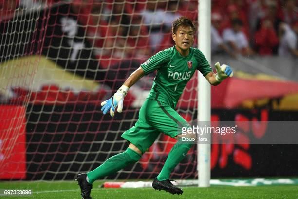 Shusaku Nishikawa of Urawa Red Diamonds in action during the JLeague J1 match between Urawa Red Diamonds and Jubilo Iwata at Saitama Stadium on June...