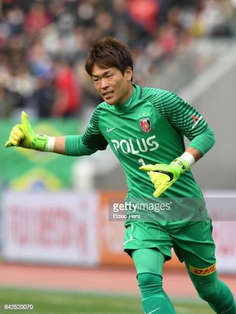 Shusaku Nishikawa of Urawa Red Diamonds in action during the Xerox Super Cup match between Kashima Antlers and Urawa Red Diamonds at Nissan Stadium...