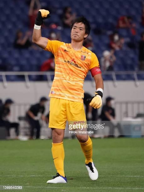 Shusaku Nishikawa of Urawa Red Diamonds looks on after the J.League Meiji Yasuda J1 match between Urawa Red Diamonds and Oita Trinita at the Saitama...