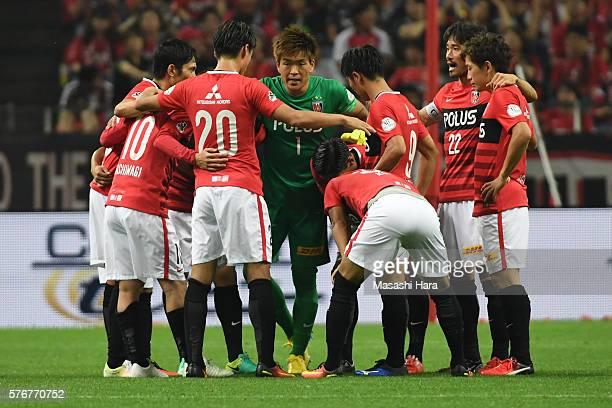Shusaku Nishikawa of Urawa Red Diamonds looks on during the JLeague match between Urawa Red Diamonds and Omiya Ardija at the Saitama Stadium on July...