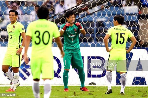 Shusaku Nishikawa of Urawa Red Diamonds reacts during the AFC Champions League Final 2017 first leg between AlHilal and Urawa Red Diamonds at King...