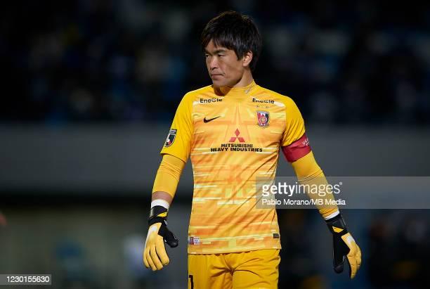 Shusaku Nishikawa of Urawa Red Diamonds reacts during the J.League Meiji Yasuda J1 match between Kawasaki Frontale and Urawa Red Diamonds at the...