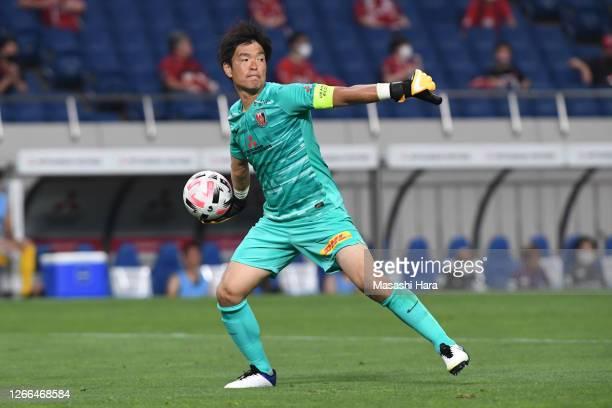 Shusaku Nishikawa of Urawa Reds in action during the J.League Meiji Yasuda J1 match between Urawa Red Diamonds and Sanfrecce Hiroshima at the Saitama...