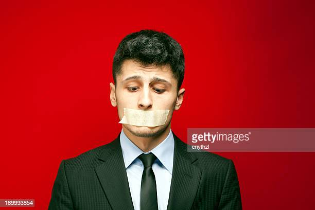 shut up! - taped mouth - covering stock pictures, royalty-free photos & images