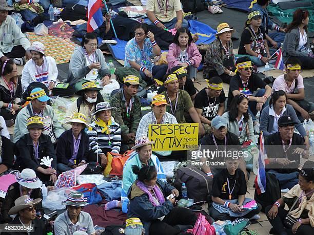 Shutdown Bangkok 13 January 2014 - Anti-government protests in Central Bangkok