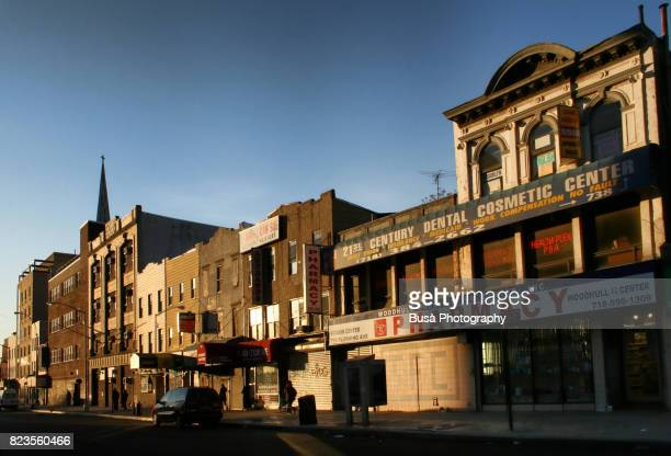 Shut-down storefronts in a low-income areas of Bedford Stuyvesant, Brooklyn, New York City