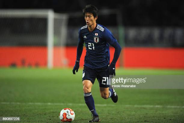 Shuto Yamamoto of Japan in action during the EAFF E1 Men's Football Championship between Japan and China at Ajinomoto Stadium on December 12 2017 in...