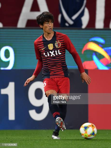 Shuto Yamamoto of Kashima Antlers in action during the AFC Champions League Group E match between Kashima Antlers and Shandong Luneng at Kashima...