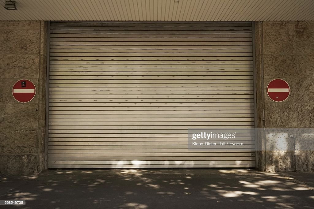Shutter Of Building By Street : Stock Photo