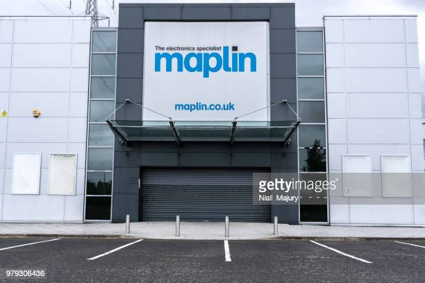 Shuttered, empty Maplin store after the firm's bankruptcy