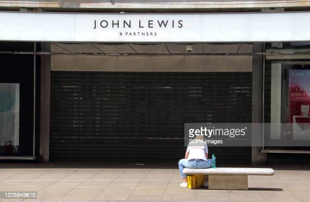 Shuttered entrance to the John Lewis store London's Oxford Street. Two of UK's biggest High Street retail names, John Lewis and Boots have announced...