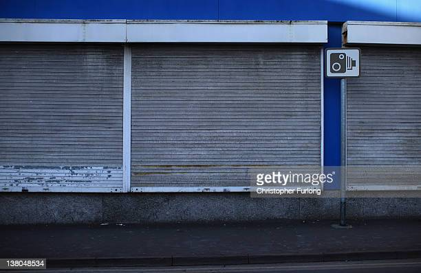 A shuttered shop waits for a new tenant in Stoke city centre on February 1 2012 in StokeOnTrent England Staffordshire has borne the brunt of the...