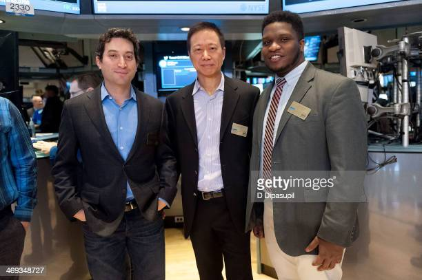 Shutterstock chief executive officer Jon Oringer Shutterstock chief technology officer James Chou and Fast Company magazine associate editor JJ...
