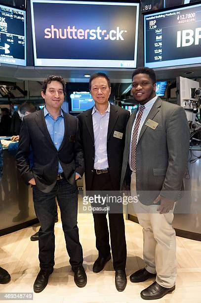 Shutterstock chief executive officer Jon Oringer Shutterstock chief technology officer James Chou and Fast Company magazine associate editor JJ...