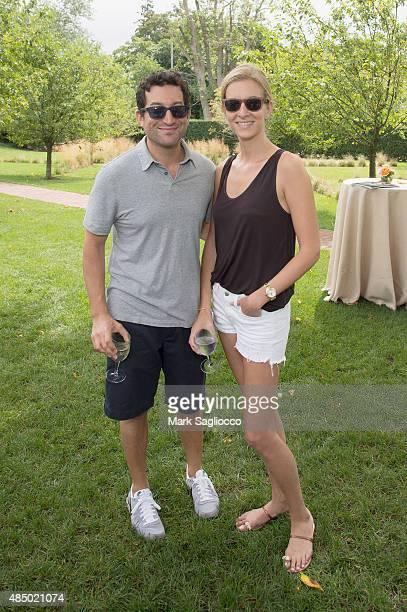 Shutterstock Jon Oringer and Talia Greismann attend DuJour's Jason Binn Hamptons brunch presented by EAST Miami on August 23 2015 in Bridgehampton...