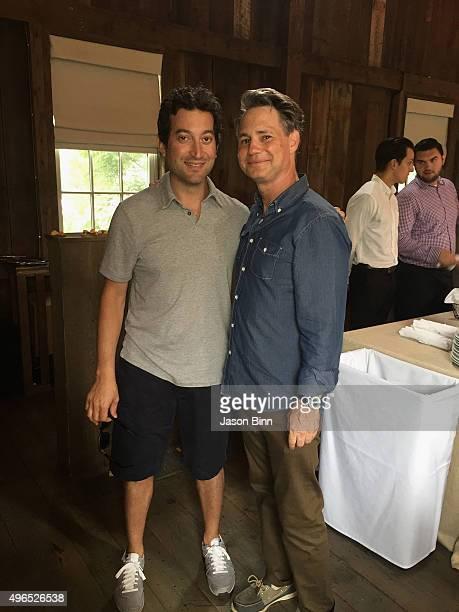 Shutterstock's Jon Oringer and DuJour Media Founder Jason Binn circa August 2015 in Hamptons NY