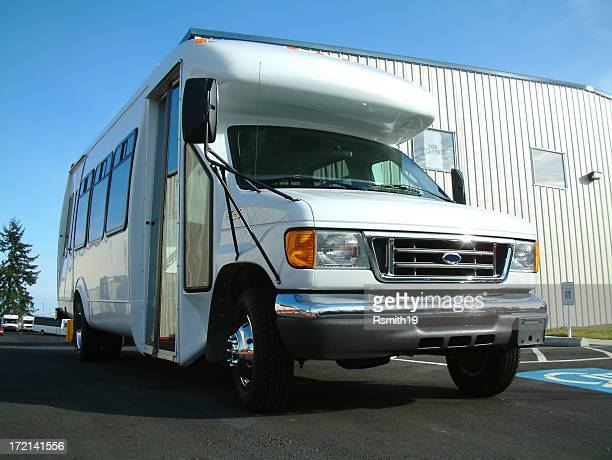 shuttle bus - mini van stock photos and pictures
