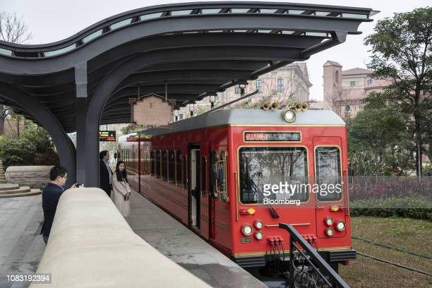 A shuttle train sits on a platform at the Huawei Technologies Co campus in Dongguan China on Tuesday Jan 15 2019 Ren Zhengfei the billionaire founder...