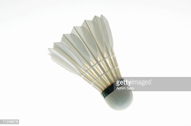 shuttlecock, close-up - badminton stock photos and pictures