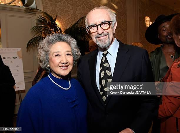 Shuzhen Zhao and Jonathan Pryce attend The BAFTA Los Angeles Tea Party at Four Seasons Hotel Los Angeles at Beverly Hills on January 04 2020 in Los...