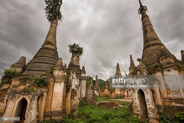 Shwe Inn Thein is an impressive collection of 1094 weather-beaten Buddhist stupas that have until very recently escaped restoration. Shwe Inn Thein...