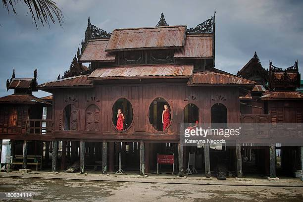 Shwe Yan Pyay Monastery is well-known by photographers for its unique oval-shape windows which serve as eye-catching frames when novice monks stand...