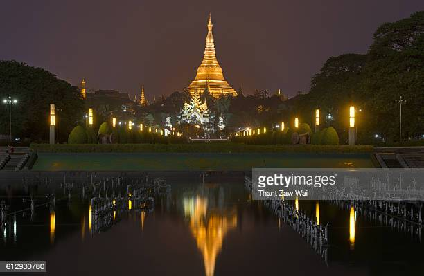 Shwedagon Pagoda at Night, Yangon, Myanmar