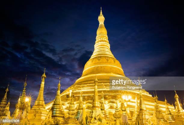 Shwedagon pagoda by night, Yangon
