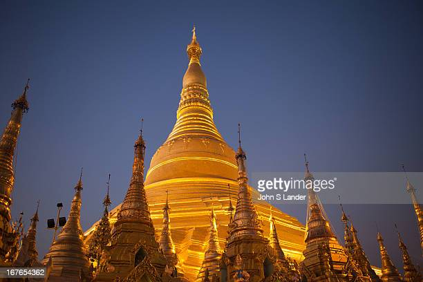 Shwedagon Pagoda officially titled Shwedagon Zedi Daw also known in English as the Great Dagon Pagoda and the Golden Pagoda is a 99 metres or 325 ft...