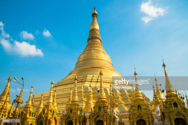 Shwedagon pagoda the most precious and famous place in Yangon township of Myanmar.