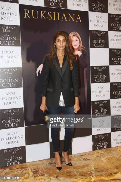 Shweta Bachchan spotted at the launch of Rukshana Eisas book The Golden Globe on January 12 2018 in Mumbai India