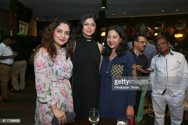 Shweta Kartik Sonu Wassan and Neelam Pratap Rudy during a facilitation program organized for former Indian Women Cricketer Anjum Chopra to receive...