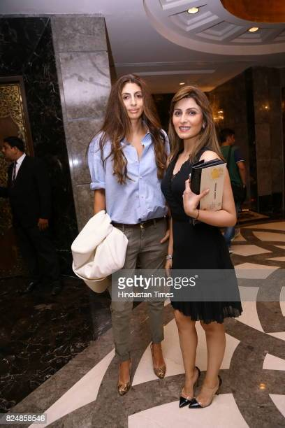Shweta Nanda and Riddhima Kapoor Sahni during the India Couture Week 2017 on July 28 2017 in New Delhi India