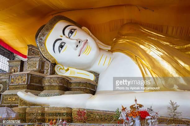 Shwethalyaung Buddha (Closeup)