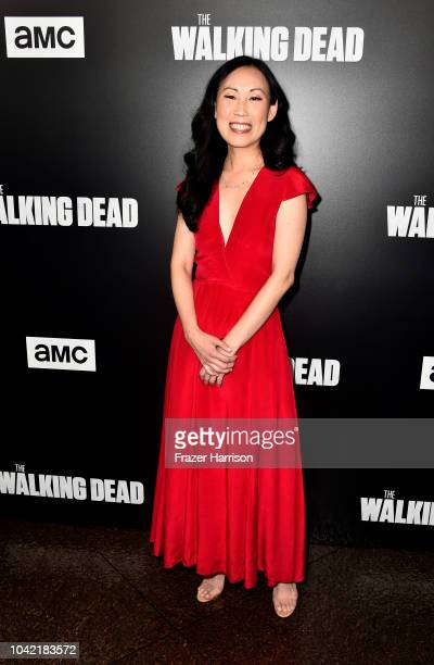 Shwrunner/EP Angela Kong attends the Premiere of AMC's 'The Walking Dead' Season 9 at DGA Theater on September 27 2018 in Los Angeles California
