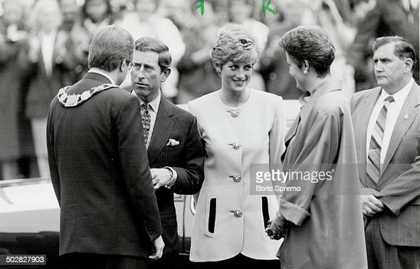 Shy Di Princess Diana smiles shyly at admirers in the crowd
