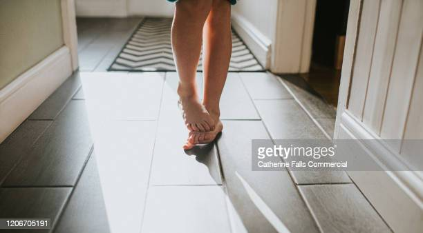 shy feet - temperature stock pictures, royalty-free photos & images