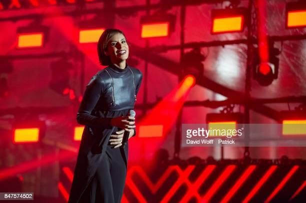 Shy' m performs during Paris Olympic Games celebration at Mairie de Paris on September 15 2017 in Paris France
