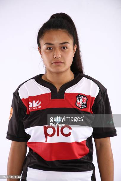 Harono Te Iringa during a Counties Manukau Women's FPC Rugby headshot session on August 17 2018 in Auckland New Zealand