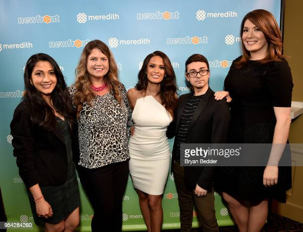 Shyla Raghav Mary Lou Robinson Rocsi Diaz Christian Soriano and Michelle Collins attend the 2018 Meredith NewFront on May 3 2018 in New York City