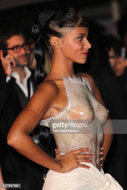 Shy'm attends the NRJ Music Awards 2012 at Palais des Festivals on January 28 2012 in Cannes France