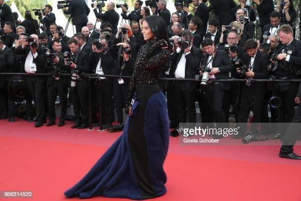 Shy'm attends the screening of 'Everybody Knows ' and the opening gala during the 71st annual Cannes Film Festival at Palais des Festivals on May 8...