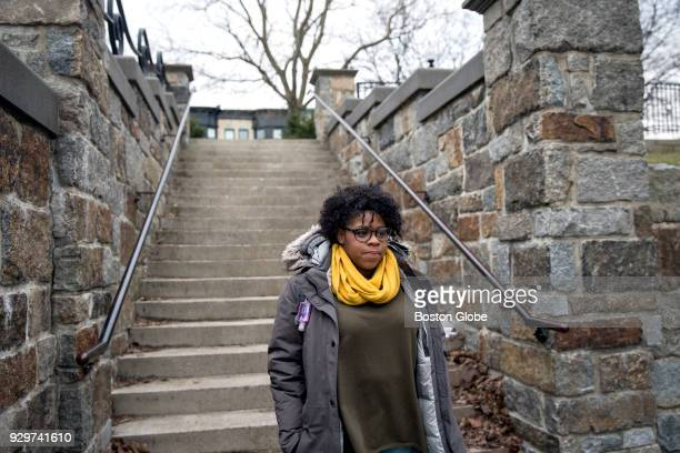 Shynnah MongeCueto walks to pick up her 1yearold daughter Lyannah Cueto from her mother's house in Boston on March 6 2018 MongeCueto took out...