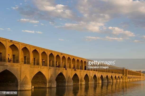 Si o se pol or khajoo bridge. Isfahan. Iran.