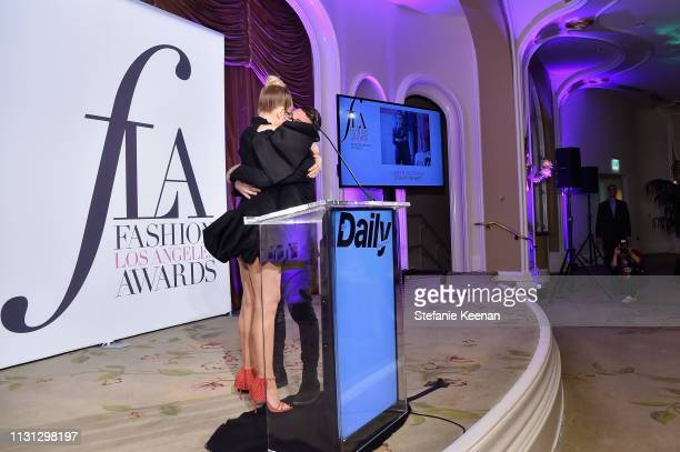 Sia and Christian Siriano attend The Daily Front Row Fashion LA Awards 2019 on March 17 2019 in Los Angeles California