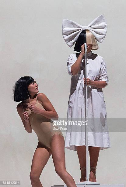 Sia and Maddie Ziegler perform at KeyArena on September 29 2016 in Seattle Washington