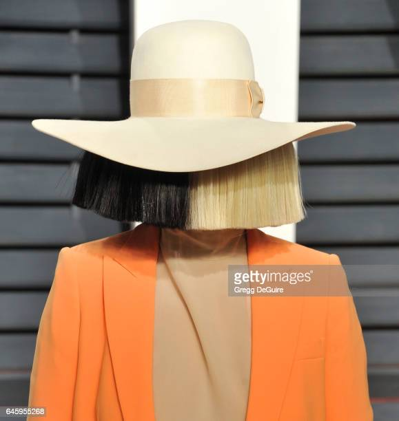 Sia arrives at the 2017 Vanity Fair Oscar Party Hosted By Graydon Carter at Wallis Annenberg Center for the Performing Arts on February 26 2017 in...