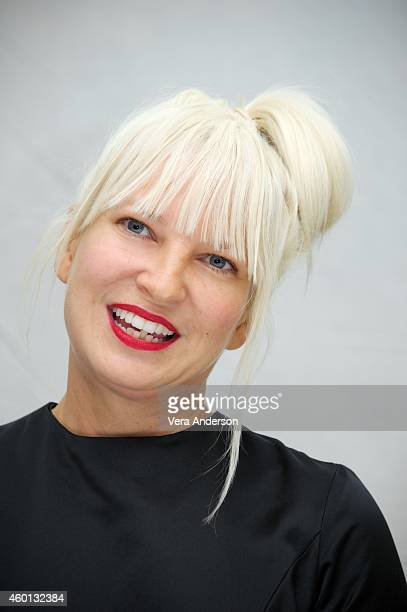 Sia at the Annie Press Conference at The London Hotel on December 3 2014 in New York City