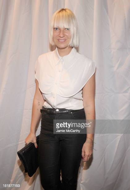Sia attends the Christian Siriano show during Spring 2013 MercedesBenz Fashion Week at Eyebeam Atelier on September 8 2012 in New York City